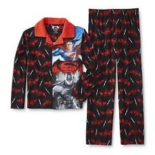 DC Comics Batman v Superman Boys Flannel Pajama Shirt Pants Sz XL (14/16)