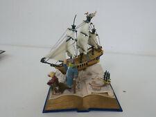 """Vntage 1988 Enesco Piratenschiff  Spieluhr - Spielt """"Over the Waves"""""""