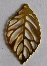 10 foglie oro filigrana foglia Hollow charms ciondoli per gioielli