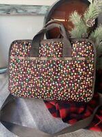 LeSportsac Flower Brown Nylon Messenger Laptop Travel Bag Crossbody '15