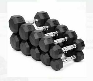 Weider Rubber Hex Dumbbells Weights 💥YOU CHOOSE💥 10 15 20 25 30 35 40 LB NEW