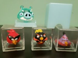 Set of 4 Angry Birds Tiny Toppers  Collectable Pencil Toppers in original boxes