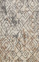 Modern Geometric Hand-knotted Moroccan Oriental Area Rug Wool Kitchen Carpet 5x7