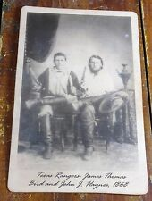 1868 Texas Rangers James Thomas Bird & John J. Haynes Old West Photo Photograph
