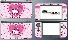 Cute Kitty I Love You Pink Hearts Doll Video Game Decal Skin New Nintendo 3DS XL