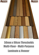 Laminate Threshold Cover Strips 50mm Adjustable Height&Pivot 90cm Adhesive/Clip