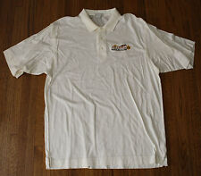 """Embroidered """"Preakness 131 Pimlico"""" May 20, 2006 Polo Shirt Med Ecru Pristine!"""