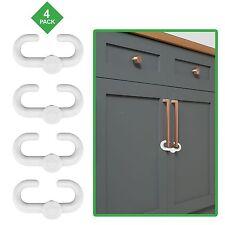 Child Safety Sliding Locks By Lebogner - Pack Includes 4 Locks