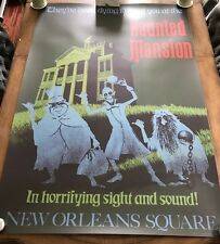 """ATTRACTION POSTER 36x54"""" Disneyland 1969 Haunted Mansion RARE full size prop D23"""