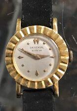 Women's Vintage Universal Geneva 18K Yellow Gold Manual Wind Up Watch!