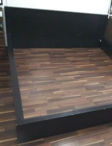 IKEA King size DARK WOOD GRAIN BED FRAME LOCAL PICKUP ONLY