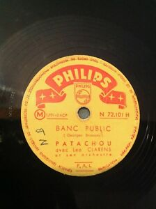 78 tours - Patachou - Brassens - Banc Public - Brave Margot - Philips - D1