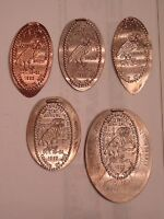 1993 ROCHESTER NUMISMATIC ASSOCIATION  ELONGATED 1C-50c  ON 1912  COINS SET OF 5