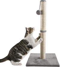 New listing Qucey 32 Inches Tall Cat Scratching Post, Claw Scratcher with Sisal Rope Include