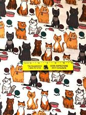 ADORABLE  CATS  &  THEIR  TOYS   COTTON  FLANNEL   By the Yard