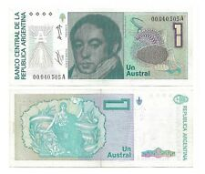 ARGENTINA NOTE 1 AUSTRAL (1985) ALONSO-CONCEPCION SUFFIX A B# 2801 P 323a XF