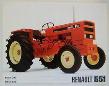 prospectus brochure tracteur RENAULT 551 traktor prospekt tratorre prospetto