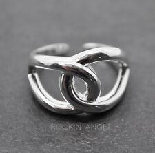 925 Chapado en Plata Anillo de bucle asociada/anillo de pulgar totalmente ajustable-Damas Regalos