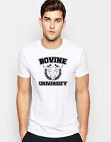 Bovine University T-shirt Simpsons Ralph Wiggum Vegan Unisex Gift Graphic Tee T