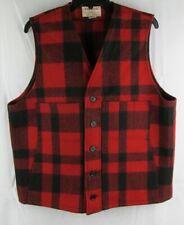 Filson Mens Mackinaw Virgin Wool Vest Size Large