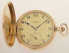ETERNA ART DECO TASCHENUHR - 1920er JAHRE - 14ct GOLD - GESAMT ca. 66 GRAMM