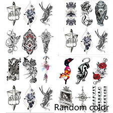 Removable Temporary Fake Tattoo Stickers Body Art Large Arm Decals Waterproof
