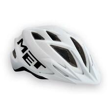Childrens enduro youth cycle helmet MET Crackerjack White Black 52-57cm