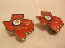 CR17) Set of 2 1989 Pride of Texas MD-2 Lions Camp Lioness and Lions Club Pin