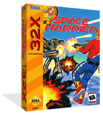 Space Harrier sega 32x Remplacement Rechange Game Box Case + Housse art work no game