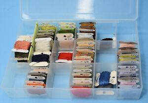 Lot / Box of Embroidery Floss Cross Stitch Thread assorted cards