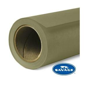 """Savage Widetone Seamless Background Paper, 53"""" wide x 36', Olive Green, #34"""