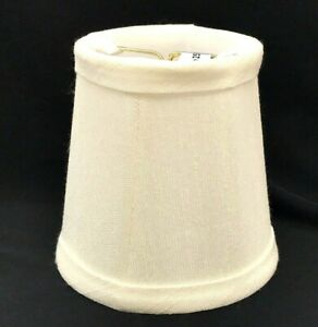 """Imperial Collection Accent Light, Chandelier Clip Wall Shade in Cream White 4"""""""
