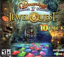JEWEL QUEST 10 PACK Amazing Match 3 Games PC Game NEW