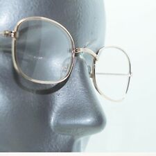Basic Small Gold Metal Wire Reading Glasses Oval Frame +1.00 Lens Strength