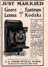 1901 A AD GOERZ KODAK JUST MARRIED CAMERA COMPANY