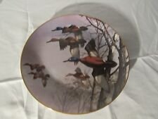 Collectible Plate Danbury Mint Ducks Last of Season David Maass wildlife
