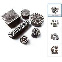 Handarbeit Sortierte DIY Holz Henna Blocks Stoff Textil Drucken Stempel