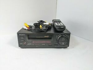 Sony EV-A50 Video8 8mm VCR Walkman w/ remote, AV cables, USB