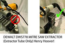 Dewalt DWS778 Mitre Saw Dust Bag  Extractor adaptor henry hoover