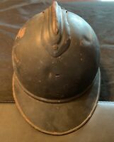 WWI French M15 Adrian Helmet With Original Inner lining