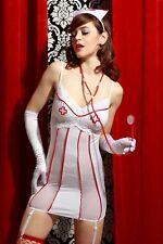 Déguisement Coquin Femme INFIRMIERE Blanc S/M 38/40 Costume sexy Métier NEUF
