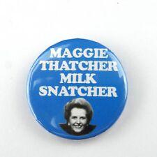 Maggie Thatcher Milk Snatcher - Button Badge - 25mm 1 inch