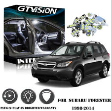 10Pcs Bright White LED Lights Interior Package Kit for 1998-2014 Subaru Forester