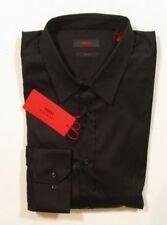 Hugo Hugo Boss Red Label Men's Elisha Slim Fit Black Ply Stretch Shirt