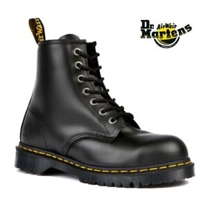 Dr Martens Icon Boots 7B10 Black Steel Toe Cap 7 Eyelet Heavy Duty Safety Work
