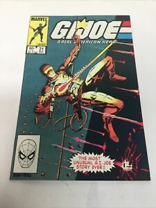 Marvel Comics GI JOE #21 (1982 Marvel) SILENT ISSUE 1st Storm Shadow High Grade