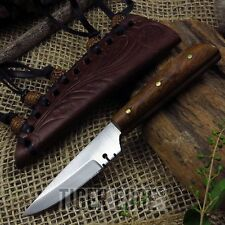 """FIXED BLADE HUNTING KNIFE 5.75"""" Mini Native American Style Patch Leather Sheath"""