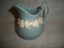 Wedgwood Embossed Queens Ware Lavender Blue Creamer Made in England