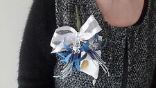 Ladies Blue & White Buttonhole