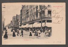 [41612] OLD POSTCARD TROLLEYS on N. HOWARD STREET, BALTIMORE, MARYLAND